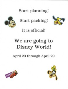 Going to Disney World!