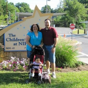 Hannah's 1st visit to the NIH in July 2009 (her second one was March 2010)