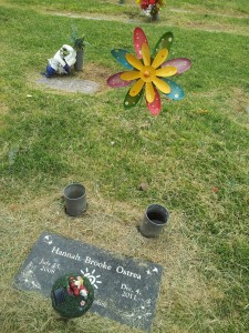 This is what I found when I arrived at the cemetery today.   Felt like a knife in the heart.